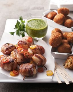Bacon Wrapped Sea Scallops & Crab Meat Jalapeno Kickers