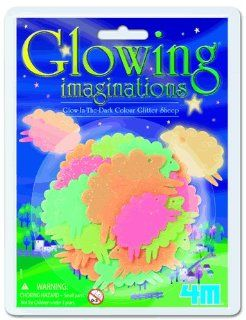 "GLOW IN THE DARK NIGHT COLORED GLITTER ""SHEEP"" GIFT SET KIT COUNTING SHEEP HAS NEVER BEEN THIS FUN BEFORE Toys & Games"
