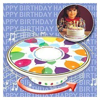 ROTATING CERAMIC MUSICAL BIRTHDAY CAKE STAND (GREAT FOR BOTH BOYS AND GIRLS!)