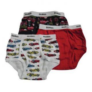 Oshkosh B'Gosh Boys 2 7 Fruit Trucks and Race Cars 3 Pack Brief, Multi, 6: Briefs Underwear: Clothing