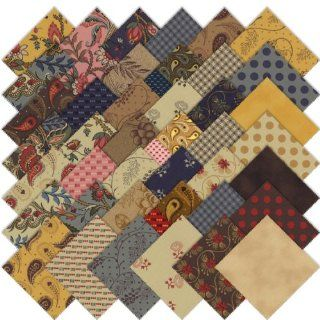 Moda Collections for a Cause Love Candy Mini Charm Pack, Set of 42 2 1/2 inch (6.4cm) Precut Cotton Fabric Squares