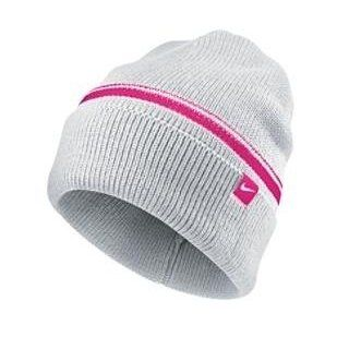 Women's Nike Cuffed Knit Winter Hat, in White/Pink : Sports Fan Beanies : Sports & Outdoors