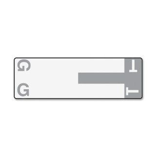 Smead Manufacturing Company Products   Alphabetical Character Labels, G And T, 100/PK, Gray   Sold as 1 PK   Labels are designed for use in vertical drawer or open shelf filing applications and are ideal for alphabetic color coding in both top tab and end