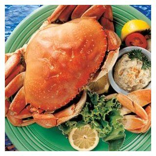 Whole Cooked Dungeness Crab : Crab Seafood : Grocery & Gourmet Food