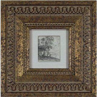 Art Figures in a Landscape  Etching  Claude Gellee (Le Lorrain)