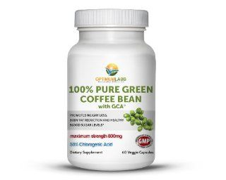 100% Pure Green Coffee Bean Extract 800mg with GCA�. Contains 50% Chlorogenic Acid, Natural Weight Loss Supplement. 60 Vegetarian Capsules Health & Personal Care