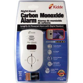 Kidde 900 0234 Nighthawk Carbon Monoxide Alarm, Long Life AC Powered with Battery Backup and Digital Display   Carbon Monoxide Detectors
