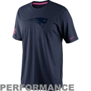 Nike New England Patriots Breast Cancer Awareness Legend Performance T Shirt   Navy Blue