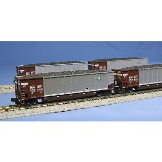 Kato USA Model Train Products Bethgon Coalporter BNSF Car Set contains 668539, 668570, 668632, 668515, 668584, 668607, 668619 and 668696 Bethgon Coalporters, Mineral Red, 8 Piece: Toys & Games