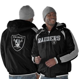 Oakland Raiders Slot Receiver Full Zip Jacket   Black