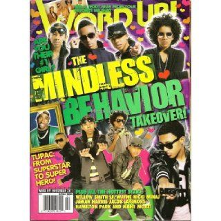 Word Up Mindless Behavior Takeover Magazine (November 2011)   Contains 12 Posters (Front & Back)   MB   Newsstand Edition (No Address Label) Right On Magazine Books