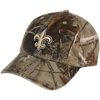 47 Brand New Orleans Saints Clean Up Adjustable Hat   Realtree Camo