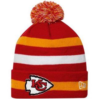 New Era Kansas City Chiefs Sport Cuffed Knit Hat   Red/Gold/White