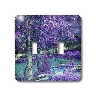 3dRose LLC lsp_64376_2 The Dixie National Forest Done In Hues Of Purple and Blue Double Toggle Switch   Switch Plates