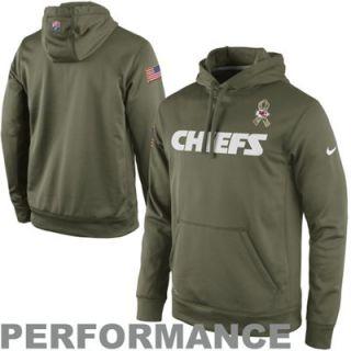 Nike Kansas City Chiefs Salute to Service KO Pullover Performance Hoodie   Olive