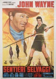 The Searchers 1971 Original Italy Due Fogli Movie Poster John Ford John Wayne John Wayne, Jeffrey Hunter, Vera Miles, Ward Bond Entertainment Collectibles