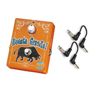 """BBE Boosta Grande Clean Boost Effect Pedal w/ 2x 6"""" Patch Cables BRAND NEW Musical Instruments"""