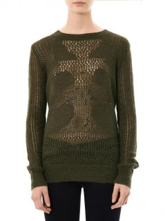 Mohair lace knit sweater  Thakoon Addition