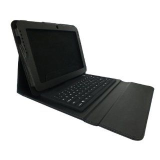 Sanheshun PU Leather Case w/ Bluetooth Keyboard Compatible with Samsung Galaxy Tab2 10.1'' P5100 P5110 Color Black Computers & Accessories