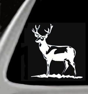 "DEER STANDING Vinyl STICKER / DECAL for Cars,Trucks,Etc. 4.5"" WHITE: Automotive"