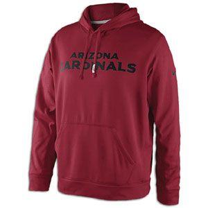 Nike NFL Sideline KO Therma Fit Hoodie   Mens   Football   Clothing   Arizona Cardinals   Tough Red