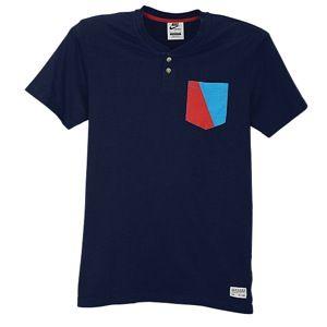 Nike Soccer Covert PKT Henley   Mens   Soccer   Clothing   Barcelona   Midnight Navy