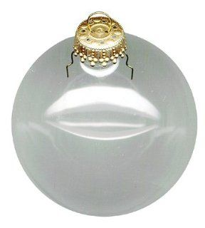 Clear Glass Christmas Ornaments Are Expertly Crafted And Ready To Decorate (Set/8)