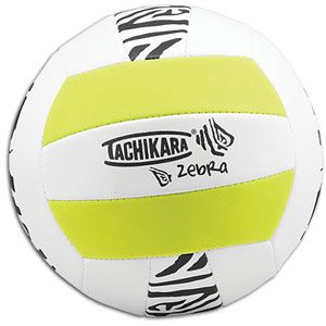 Tachikara SOF TECH Indoor/Outdoor Volleyball   Volleyball   Sport Equipment   Zebra/Green/White