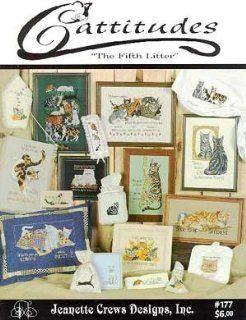 Cattitudes   Fifth Litter   Cross Stitch Pattern: Arts, Crafts & Sewing