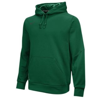 Nike Team Sideline 14 KO Chain Fleece Pull Over   Mens   For All Sports   Clothing   Dark Green/Anthracite