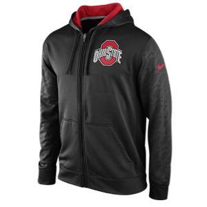Nike College KO ThermaFit Full Zip Hoodie   Mens   Football   Clothing   Ohio State Buckeyes   Black