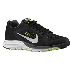Nike Zoom Structure + 17   Mens   Running   Shoes   Black/Light Crimson/White/Volt