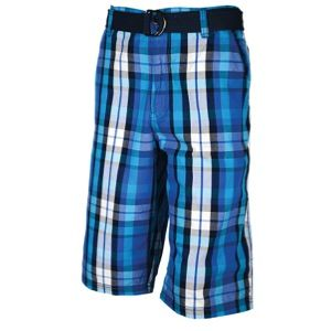 Southpole Belted Chino Plaid 13.5 Shorts   Mens   Casual   Clothing   Royal