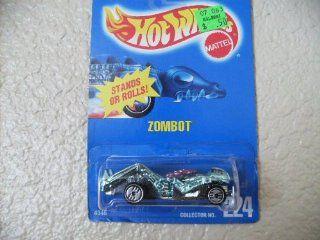 Hot Wheels Zombot All Blue Card #224 Light blue with Pink Gun on Ultra Hot Wheels Toys & Games