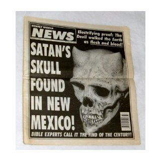 Weekly World News March 17, 1993 Satan's Skull Found In New Mexico Hurricane Andrew 0071049182590 Books