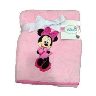 Disney Minnie Mouse Coral Fleece Baby Blanket  Nursery Swaddling Blankets  Baby