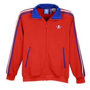 adidas Originals Split Stripe Firebird Track Jacket   Mens   Casual   Clothing   University Red/Coll. Royal/White