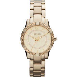 Relic by Fossil Payton Gold Tone Crystal Stainless Steel Womens Watch ZR34202 at  Women's Watch store.