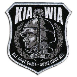 "KIA WIA ALL GAVE SOME 10"" x 11"" BACK PATCH ARMY POW VET Military For Biker Vest: Everything Else"