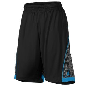 Jordan S.Flight Premium Knit Shorts   Mens   Basketball   Clothing   Black/Black/Vivid Blue