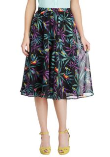 Tatyana/Bettie Page Singin' in the Rainforest Skirt  Mod Retro Vintage Skirts