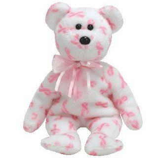 Ty Beanie Baby Giving Breast Cancer Bear [Toy]: Toys & Games