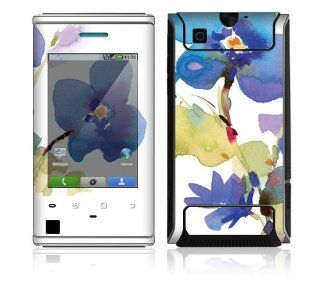 Motorola Devour Decal Phone Skin Decorative Sticker w/ Matching Wallpaper   Flower in Watercolors: Cell Phones & Accessories