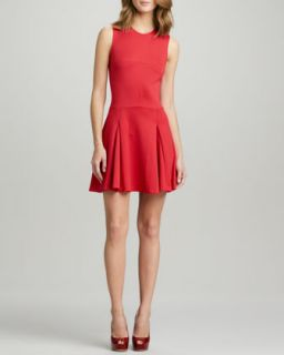 Womens Fit and Flare Ponte Dress   Ali Ro   Cranberry (10)