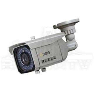 "Q SEE QD6004B N 600TVL 1/3"" 2.8 12mm Varifocal Sony Effio E Super HAD CCD II Weatherproof Outdoor IP65 CCTV Surveillance Security Bullet Camera w/ 48 IR LEDs 120 FT Night Vision : Camera & Photo"