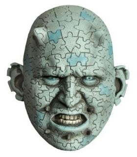 Enigma Puzzle Tattoo Latex Mask: Clothing
