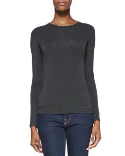 Womens Crewneck Soft Touch Top   Majestic Paris for    Caf? chine