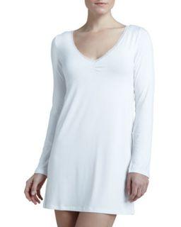 Womens Rosa Long Sleeve Night Dress   La Perla   Ivory (SMALL)