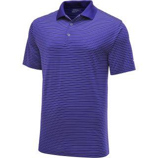 NIKE Mens Victory Stripe Short Sleeve Golf Polo   Size L, Court Purple/white