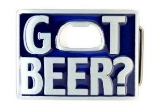 Blue Got Beer Bottle Opener Belt Buckle Clothing